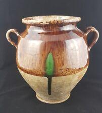 Pot à graisse en terre cuite vernissée du sud ouest 19ème, hauteur: 28 cm