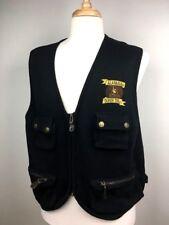 Vintage Alabama Crimson Tide Black Vest  XL Fishing Vest Fan Apparel Look RAH!