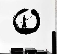 Wall Decal Circle Enso Zen Japanese Samurai Warrior Vinyl Stickers (ig3032)