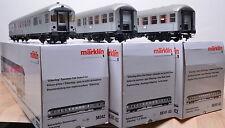 3 tlg.Märklin 58342/58341 Nahverkehrswagen-Set Silberlinge / Digital / neuwertig