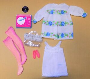 Original Alt Vintage Mattel Barbie Francie Outfit # 1229 SUGAR SHEERS 1969