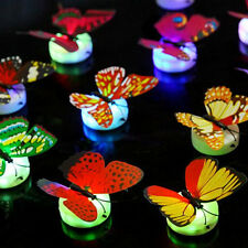 3D Glowing Butterfly Night LED Light Wall Sticker Decals Home Kids Room Decor