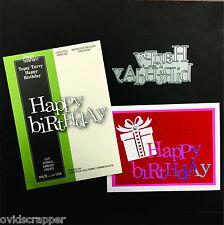 Birthday words dies TOPSY TURVY HAPPY BIRTHDAY Poppystamps die 1403 phrases