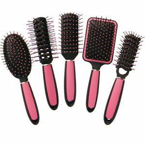 5pk or Single Hair Brush Set Silky Smooth Hair Pink Brushes Hair Straightener br
