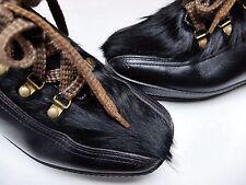 True Vintage Damen Winterschuhe Schnürschuhe Schwarz Gr 36 Leder 60s Schuhe UK3