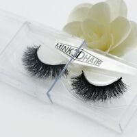 1Pair 3D 100% Mink Hair Natural Long Eye Lashes False Eyelashes Handmade New so