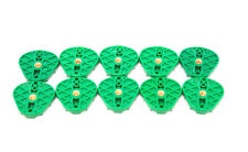 Disposable Plastic Oblong Articulating Mounting Plates (10Pcs/ Bag) Green