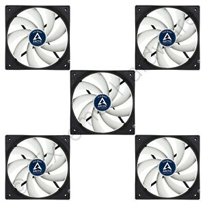5 x Pack Arctic F12 Silent Extra Quiet 120mm Case Fans 800 RPM 0.08 Sone 3-Pin
