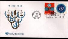 "ENVELOPPE Timbrée ""NATIONS UNIES"" Oblitération Flamme postale NEW YORK en 1965"