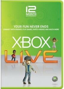 Xbox Live 12 Month Gold Membership Code for Xbox One 360 (Brazil VPN Activate)