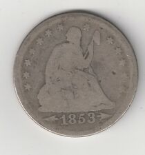 1853 25C Liberty Seated Silver Quarter with Arrows and Rays