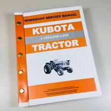 Heavy equipment manuals books for kubota ebay kubota l185 l245 l295 tractor service repair manual technical shop book overhaul fandeluxe Gallery