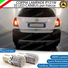COPPIA LAMPADE PY21W BAU15S CANBUS 35 LED OPEL ANTARA FRECCE POSTERIORI NO ERROR