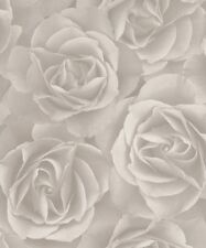 Rasch Crispy Paper Wallpaper 525601 - Paste the Wall Textured Floral Rose