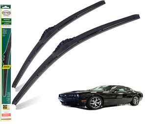 """Fits Dodge Challenger 2008-On Replacement Front Wiper Blades Hybrid 22""""22"""""""