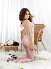 Sexy Lingerie Fishnet Bodystocking Crotchless Open Crotch Stocking Nightwear 022