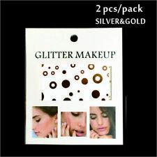 Gesicht Augen Tattoo Aufkleber Temporäre Tattoos 2er Packung f04 Gold & SILBER