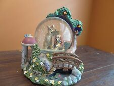 IDEO Disney Store Lady And The Tramp Dog Music Box Bella Notte Water Snow Globe