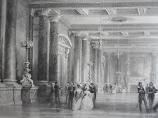 Salon Louis PHILIPPE FONTAINEBLEAU chateau GRAVURE d'aprés T.ALLOM XIXéme