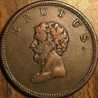 CANADA COLONIAL BRUTUS HALF PENNY TOKEN COIN