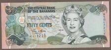 2001 BAHAMAS 1/2 DOLLAR NOTE UNC