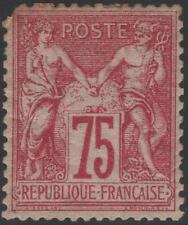 """FRANCE STAMP TIMBRE N° 71 """" TYPE SAGE 75c CARMIN 1876 """" NEUF x A VOIR  K325"""
