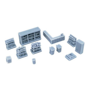 Outland Models Railway Scenery Market/Store Interior Accessories Set HO Scale