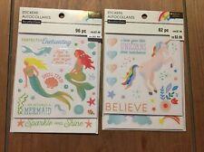 BRAND NEW! Recollections Sticker Lot Unicorns & Mermaids