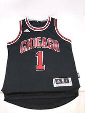 Adidas Chicago Bulls Black Jersey Rose #1 Youth Kids Small