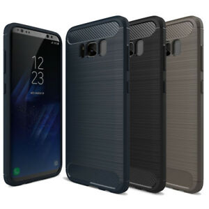 Cell Phone Case Protective Frame for Apple Samsung Xiaomi Carbon Look TPU