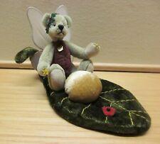 "Vintage Ganz Miniature Cottage Collectible ""Star Fairy"" Bear & Leaf Retired"