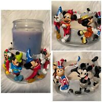 Walt Disney World Mickey Mouse Eight 8 Character Jar Candle Holder Centerpiece