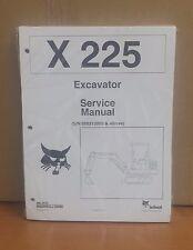 Bobcat X225 Compact Excavator Service Manual Shop Repair Book Part 6720874