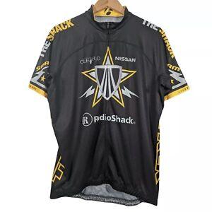 Bontrager Black & Yellow Team Radioshack Full Zip Cycling Jersey - Size 2XL