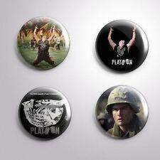 4 PLATOON -  Pinbacks Badge Button 25mm 1''..