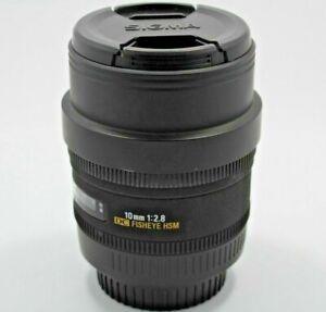 Sigma Fisheye 10mm f/2.8 EX DC HSM Lens with hood