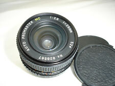 PROMASTER MC 28mm F2.8 Lens , C / Y for Yashica / Contax mount cameras SN828567