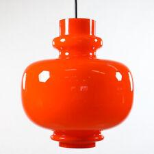 Staff Pendel Leuchte Glas Lampe Orange Bulb Vintage 60er 70er Jahre