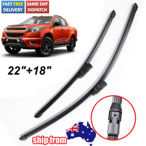 """For Holden Colorado RG 2012-2017 Front Windscreen Wiper Blades Pair (2x) 18"""" 22"""""""