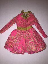 Vintage Mattel Tagged Barbie Special Sparkle #1468 Pink/Gold Brocade Coat