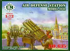 UM-MT Models 1/72 Soviet MODEL 1931 AIR DEFENSE STATION Quad Maxim Machine Guns