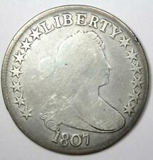 1807 Draped Bust Half Dollar 50C - VG Details Condition - Rare Early Coin!