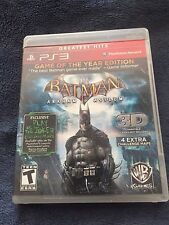Clean! PS3 Batman Arkham Asylum Game of The Year Edition Greatest Hits Manual 3D