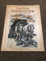 1918 Leslie's Motor Review And Accessory Catalog Rare Original