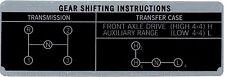 Shift Plate Toyota Land Cruiser FJ40 FJ45 BJ40 H42 3 Speed Instruct.