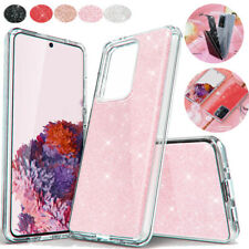 Samsung S20/Plus/Ultra Hybrid Three Layer Hard Sparkle Shiny Bling Case Cover