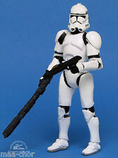 Star wars loose ROTS RARE White Clone Trooper en rapide Draw Attack Comme neuf. C-10+