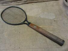 Vintage Metal & Wood Tennis Racket > Antique Racquet Ball Badminton RARE 8212