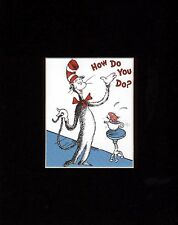CAT IN THE HAT~THING 1 & THING 2~8 x 10 Mat Print~WRECK THE HOUSE~How Do You Do?