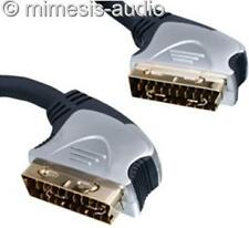 HIGH END 21 PIN SCART CABLE KABEL 20 METER NEW  GOLD PLATED NORMAL PRICE 75 €